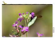 Flower With Bee Carry-all Pouch
