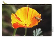 Flower With Honey Bee Carry-all Pouch