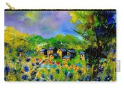 Flowered Village Carry-all Pouch