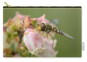 Flowerfly On Blueberry Blossom Carry-all Pouch