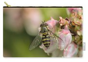 Flowerfly Pollinating Blueberry Buds Carry-all Pouch