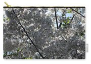 Flowering Cherry - White Carry-all Pouch