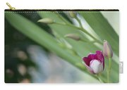 Flowering  Orchid Stem Carry-all Pouch