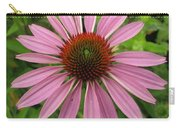 Flowering Purple Cone Flower Carry-all Pouch