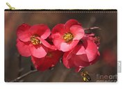 Flowering Quince With Bee Carry-all Pouch