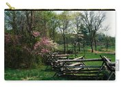 Flowering Trees In Bloom Along Fence Carry-all Pouch