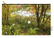 Flowers Along The River In Fall Carry-all Pouch