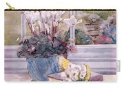 Flowers And Book On Table Carry-all Pouch