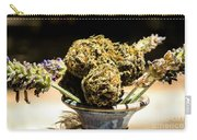 Organic Flowers And Vase Carry-all Pouch