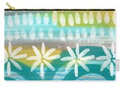 Flowers And Waves- Abstract Pattern Painting Carry-all Pouch