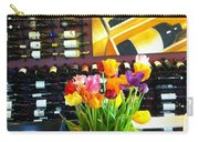 Flowers And Wine Carry-all Pouch