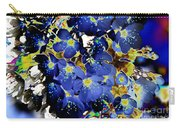 Flowers Blue Carry-all Pouch