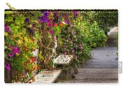 Flowers By A Bench  Carry-all Pouch