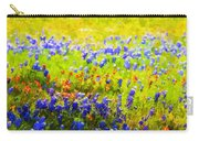 Flowers Field Background Carry-all Pouch