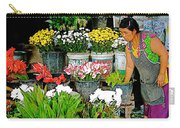 Flowers For Sale In Marketplace In Tachilek-burma Carry-all Pouch