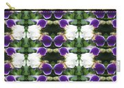 Flowers From Cherryhill Nj America White  Purple Combination Graphically Enhanced Innovative Pattern Carry-all Pouch