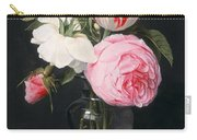 Flowers In A Glass Vase Carry-all Pouch by Daniel Seghers