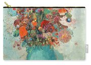 Flowers In A Turquoise Vase Carry-all Pouch