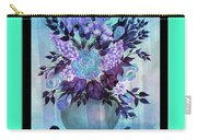 Flowers In A Vase With Blue Border Carry-all Pouch