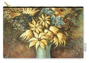 Flowers In Blue Vase - Still Life Oil Carry-all Pouch