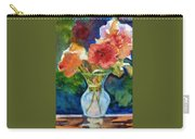Flowers In Glass Vase Carry-all Pouch