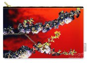 Flowers In Red Carry-all Pouch