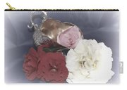 Flowers In Silver Carry-all Pouch