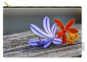 Flowers Of Blue And Orange Carry-all Pouch