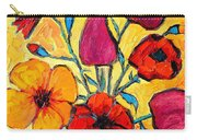 Flowers Of Love Carry-all Pouch by Ana Maria Edulescu