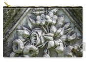 Flowers On A Grave Stone Carry-all Pouch