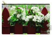 Flowers On Fence Carry-all Pouch