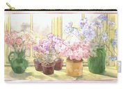 Flowers On The Windowsill Carry-all Pouch by Julia Rowntree
