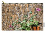 Flowers On Wall - Taromina Carry-all Pouch