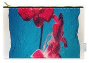 Flowers On Watercolor Paper Carry-all Pouch