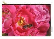 Flowers-roses-pink-bee Carry-all Pouch
