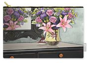 Flowers Table And Mirror In The Foyer Still Life Carry-all Pouch