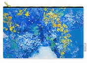 Flowers With Blue Background Carry-all Pouch