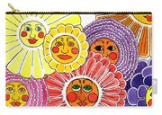 Flowers With Faces Carry-all Pouch