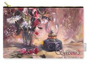 Flowers With Lantern Christmas Card Carry-all Pouch
