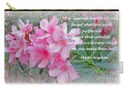 Flowers With Maya Angelou Verse Carry-all Pouch by Kay Novy