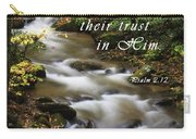 Flowing Creek With Scripture Carry-all Pouch