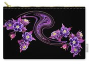 Flowing Purple Velvet 2 Carry-all Pouch