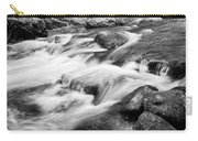 Flowing St Vrain Creek Black And White Carry-all Pouch