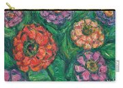 Flowing Zinnias Carry-all Pouch