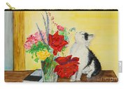 Fluff Smells The Lavender- Painting Carry-all Pouch