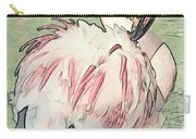 Fluffing Flamingo  Carry-all Pouch