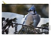 Fluffy Blue Jay Carry-all Pouch