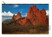 Fluffy Clouds Over Jagged Peaks Carry-all Pouch