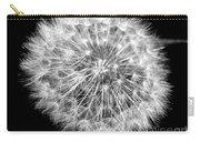 Fluffy Dandelion On Black Carry-all Pouch