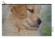 Fluffy Golden Puppy Carry-all Pouch